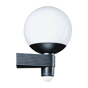 Buitenlamp Met Sensor Zwart.Steinel Buitenlamp Met Sensor L 410 S Wit En Zwart